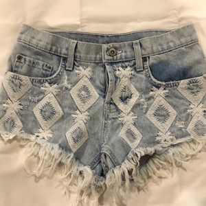 Carmar denim shorts with stitching detail